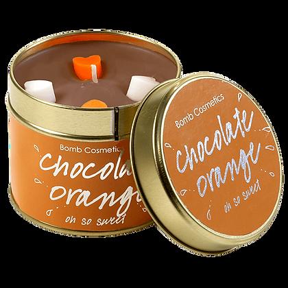 Chocolate Orange Candle Tin