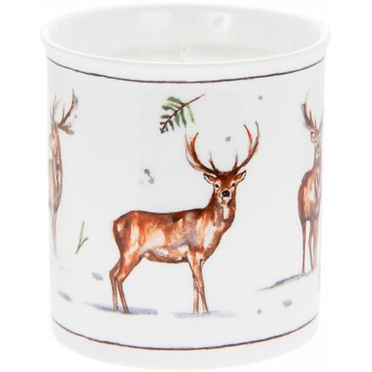 Winter Stags Candle