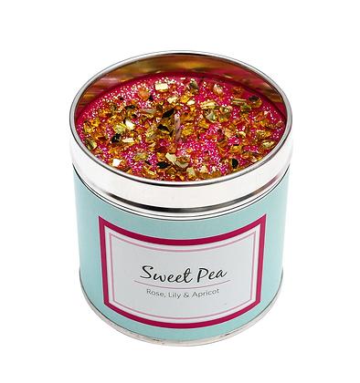 Sweet Pea Candle Tin