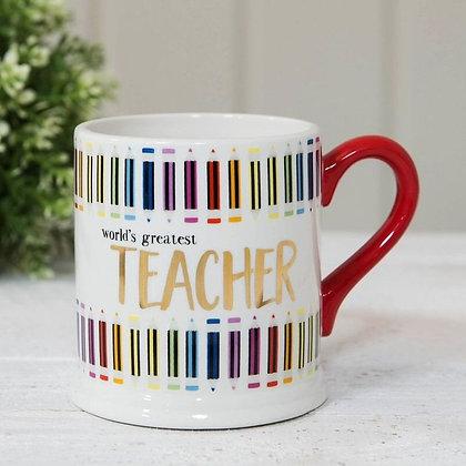 Worlds Greatest Teacher Foil Mug