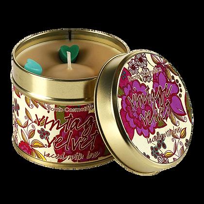 Vintage Velvet Candle Tin