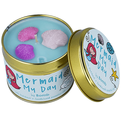 Mermaid Tin Candle