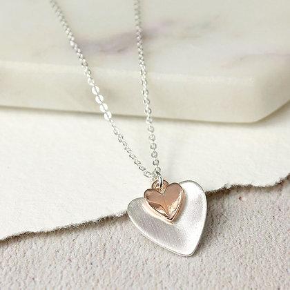 Folded Heart Necklace