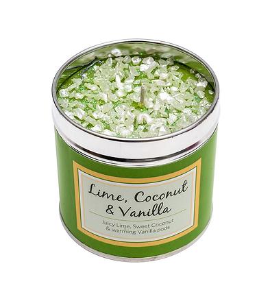 Lime Vanilla Candle Tin