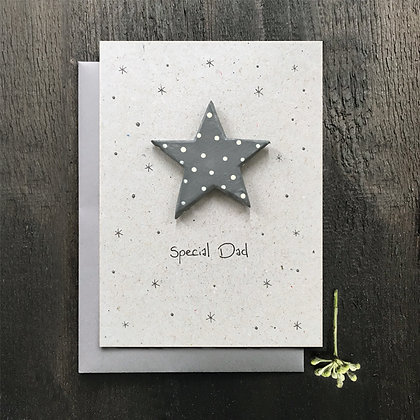 Special Dad Wooden Star Card