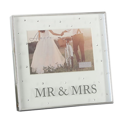 Mr & Mrs Crystal Picture Frame