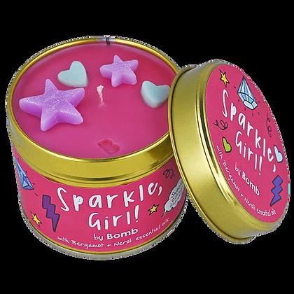 Sparkle Girl Tin Candle