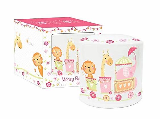 Baby Girl Ceramic Money Box