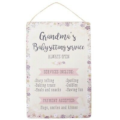 grandmas babysitting service sign