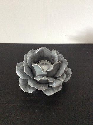 Ceramic Grey Flower T light