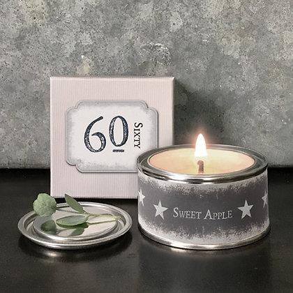 60th Birthday Candle Tin