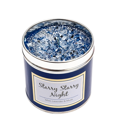 Starry Night Candle Tin
