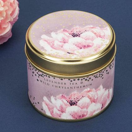 Wild Flower Candle Tin