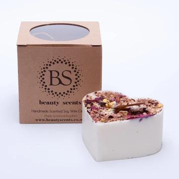 Rose Petal Soy Heart Candle
