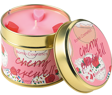Cherry Bakewell Candle Tin