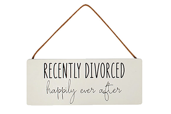 Recently Divorced Sign
