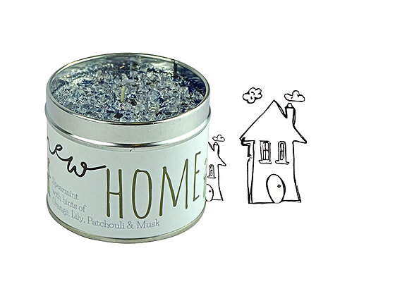 New Home Candle Tin