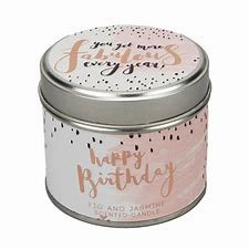 Fabulous Happy Birthday Candle Tin