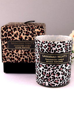 Leopard Print Candle