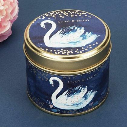 Swan Lake Candle Tin