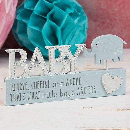 Baby Boy Mantal Plaque