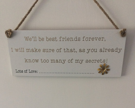 Best Friends Forever Sign