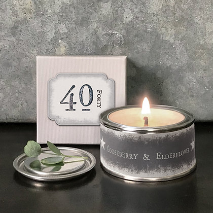 40th Birthday Candle