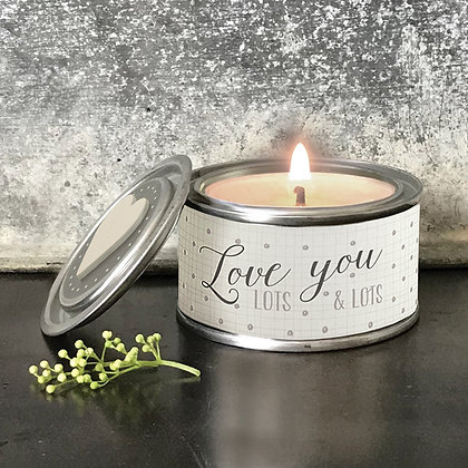 Love You Candle Tin