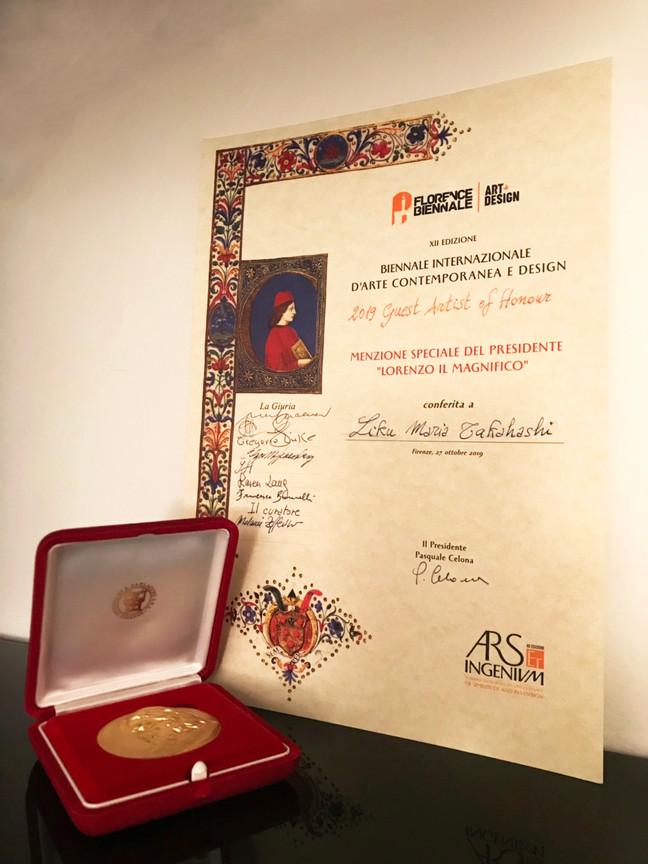 イタリアの国際アートコンクール最優秀賞