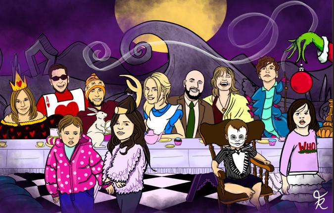 Alice & Friends Table