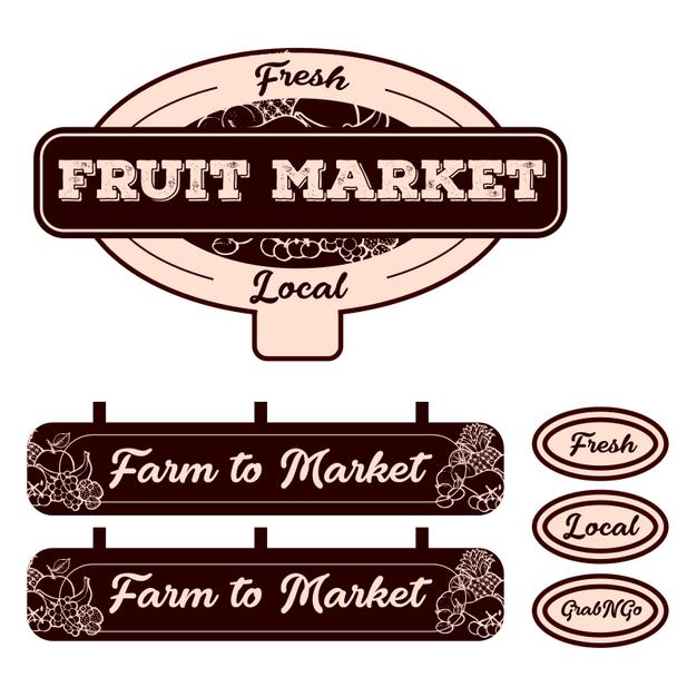 Fruit Market Merch Kit