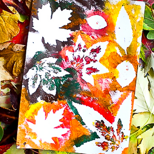 To-Go Art Project-Leaf Canvas