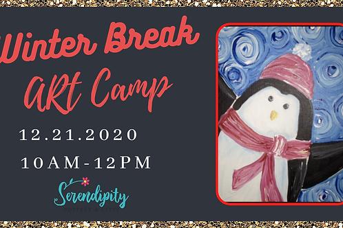 Winter Art Camp-Penguin Painting 12.21.2020 10am-12pm