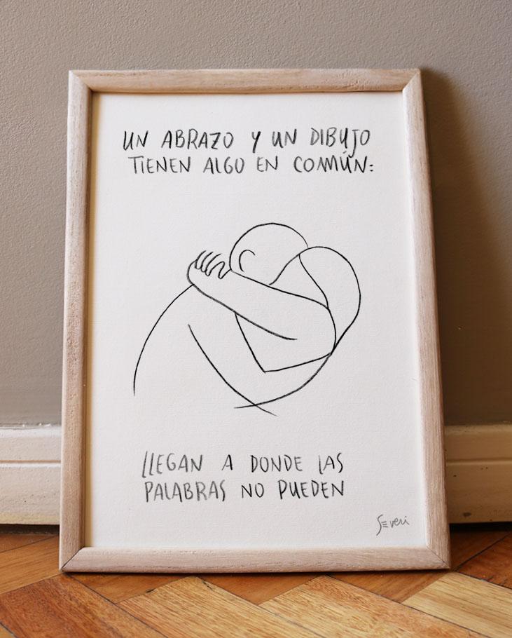 Abrazo y dibujo_A4