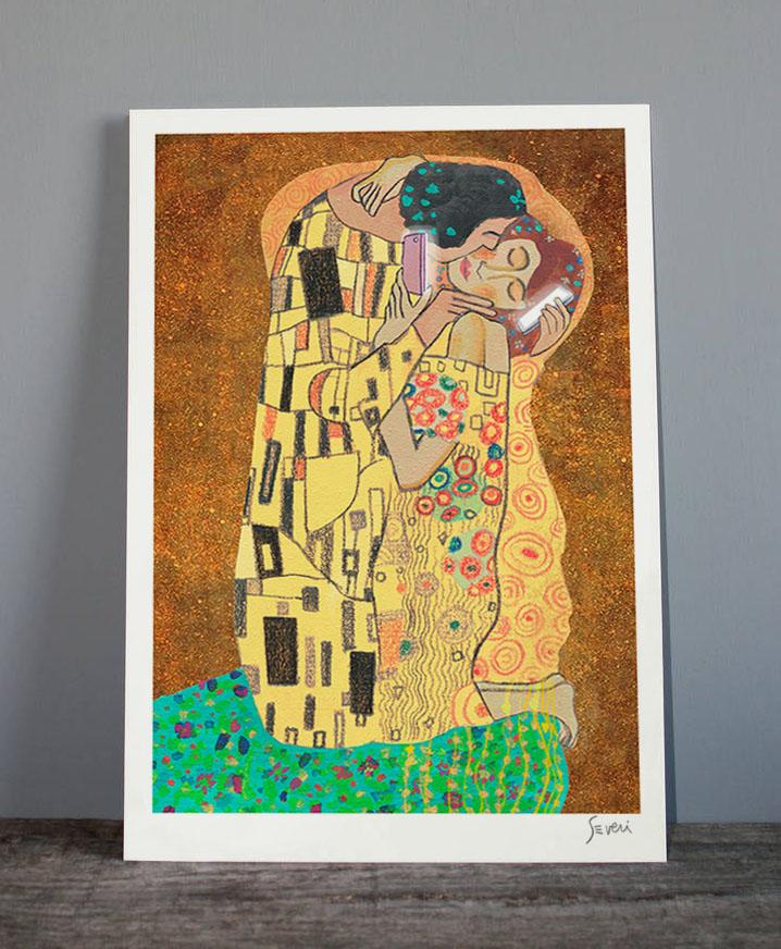 El beso Klimt_Lamina