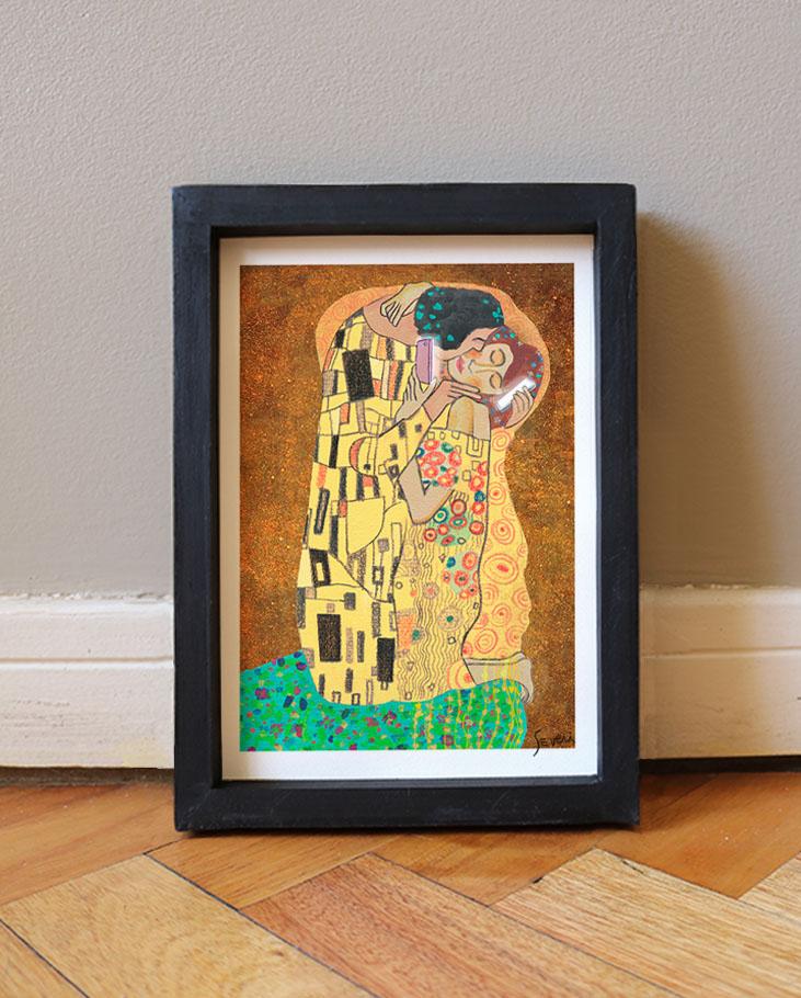 El beso Klimt_Box