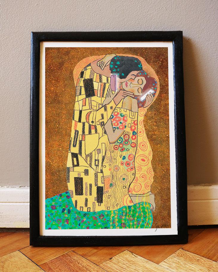 El beso Klimt_A4