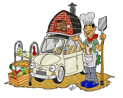 Catering de pizza en horno de leña portátil