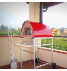 Horno de leña Pizza Party 70x70 Rojo