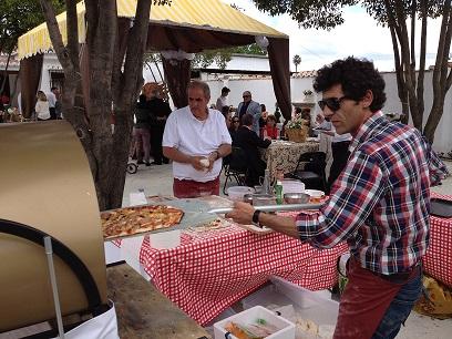 Catering de pizza en bautizo