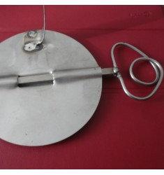 Válvula para horno de leña en acero inox.