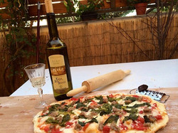 Pizza y vino