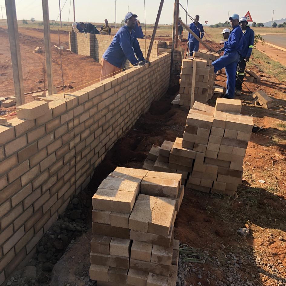 BELISA Pigment Bricks in Parameter Wall Construction