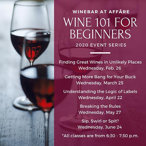 Wine 101 Event Series