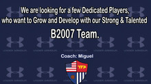 B2003 & B2007 Open Tryouts