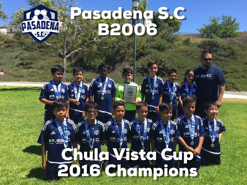 Pasadena S.C. B2006 Chula Vista Cup 2016 Champions