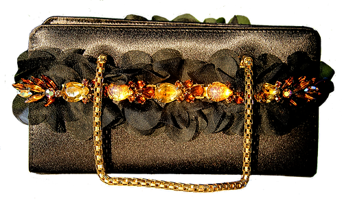 Little Black Purse in Gold