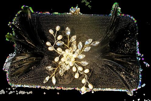 Little Black Purse with Flower