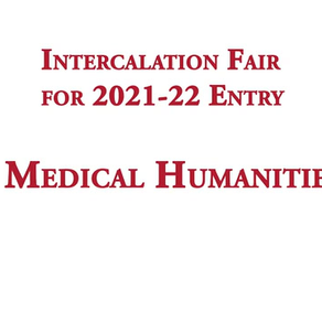 Quick (12 min), graduate-led intro to the intercalated BA in Medical Humanities at Univ. of Bristol