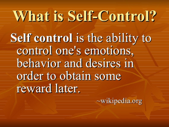 Do you have Self-Control?